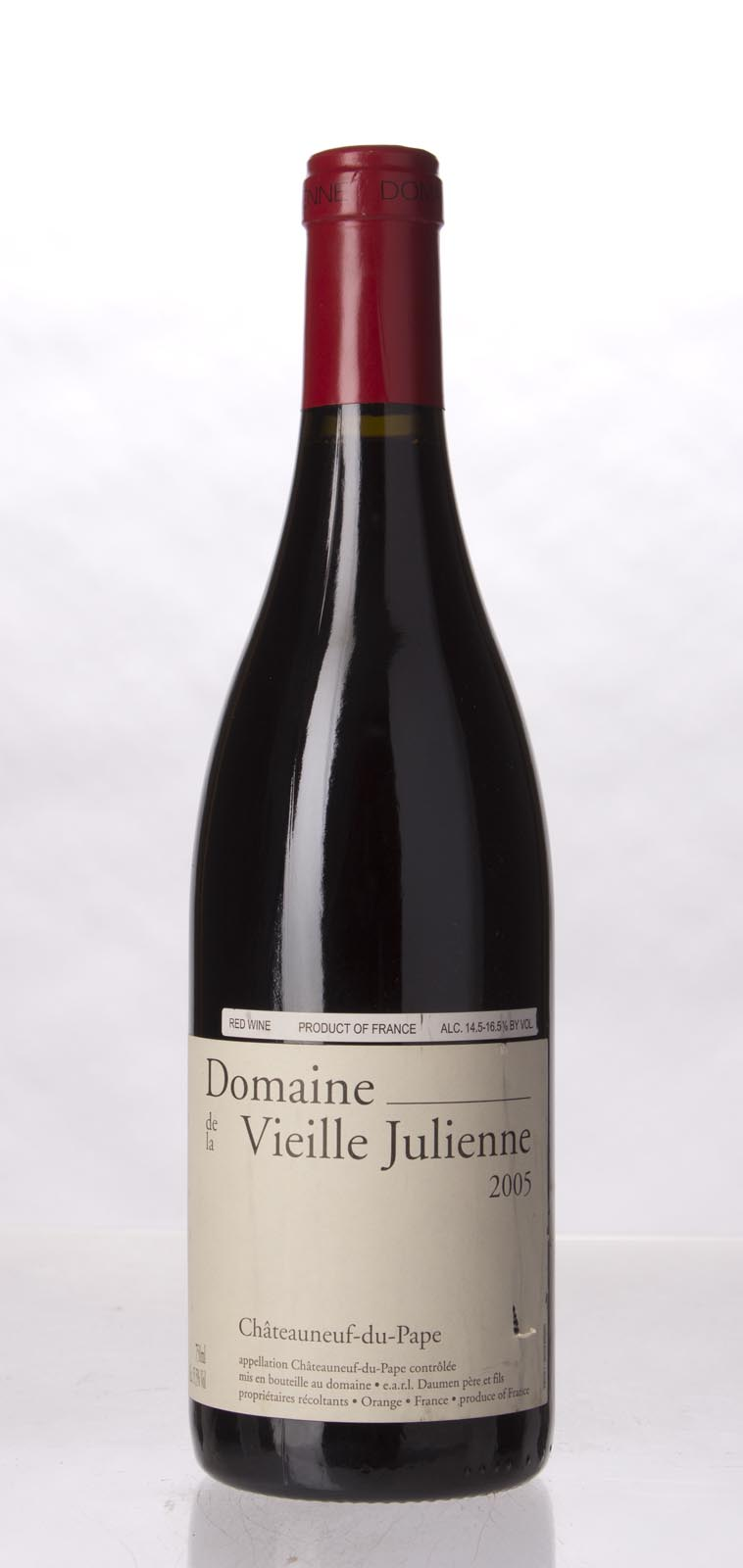 Domaine de la Vieille Julienne Chateauneuf du Pape 2005, 750mL (WA95, ST93+, WS94) from The BPW - Merchants of rare and fine wines.