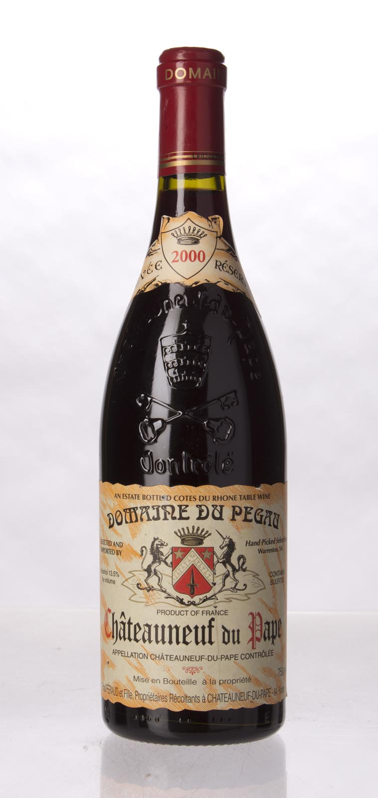 Domaine du Pegau Chateauneuf du Pape Cuvee Reservee 2000, 750mL (WA95) from The BPW - Merchants of rare and fine wines.