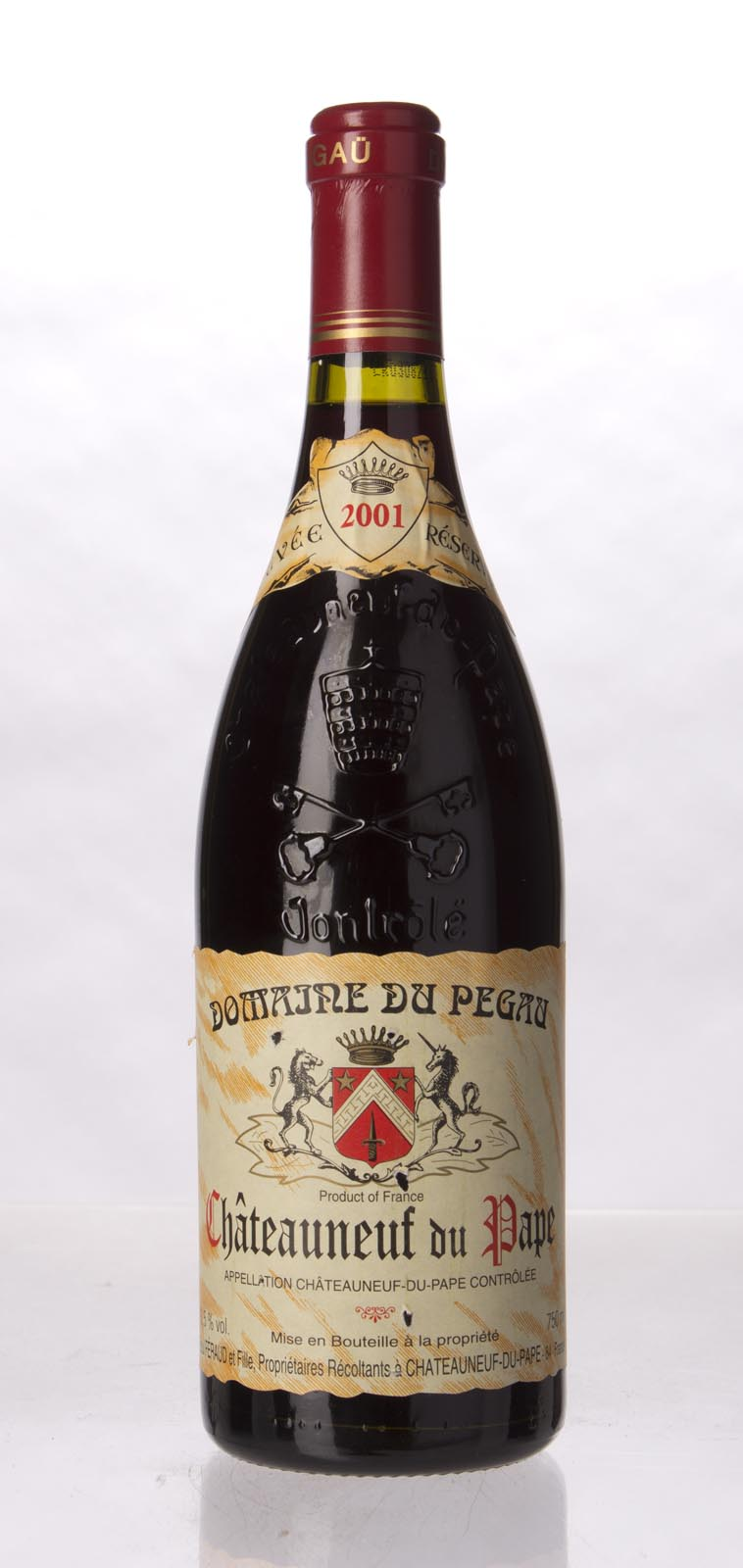 Domaine du Pegau Chateauneuf du Pape Cuvee Reservee 2001, 750mL (WA95, ST94) from The BPW - Merchants of rare and fine wines.