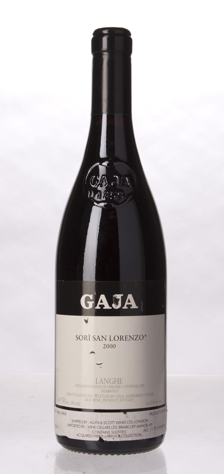 Gaja Sori San Lorenzo 2000, 750mL (WA95, WS97) from The BPW - Merchants of rare and fine wines.
