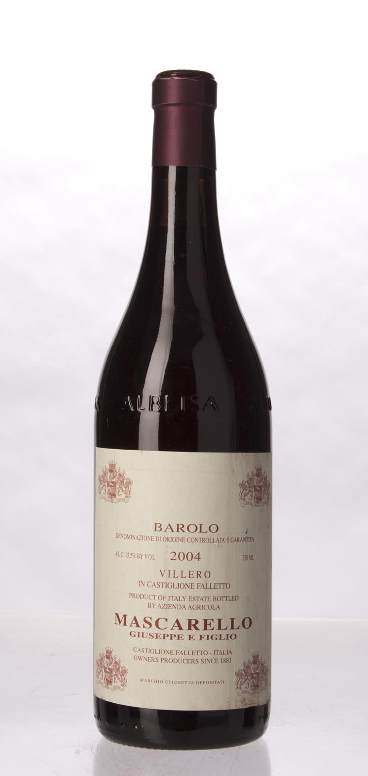 Giuseppe Mascarello Barolo Villero 2004, 750mL (WA92, WS92) from The BPW - Merchants of rare and fine wines.