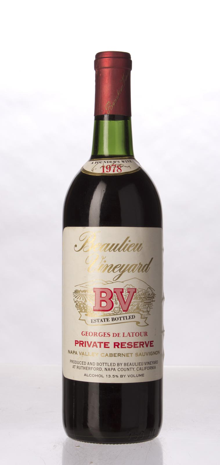 Beaulieu Vineyard Cabernet Sauvignon Private Reserve Georges de Latour 1978, 750mL (WA90, WS92) from The BPW - Merchants of rare and fine wines.