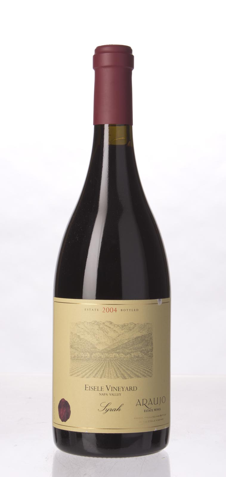 Araujo Estate Syrah Eisele Vineyard 2004, 750mL (WA92, ST92) from The BPW - Merchants of rare and fine wines.