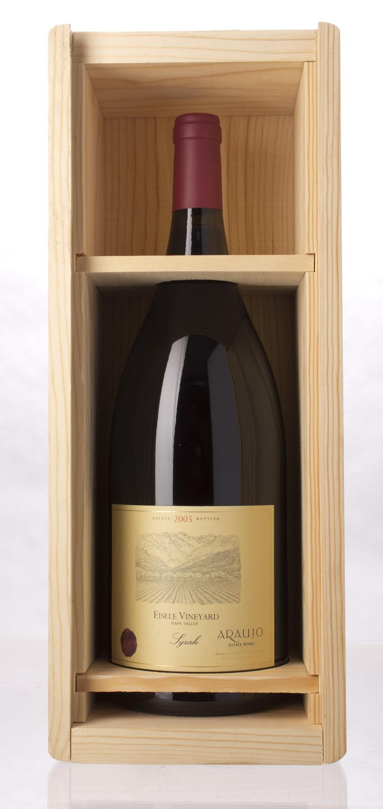 Araujo Estate Syrah Eisele Vineyard 2005, 1.5L (WA93, ST92) from The BPW - Merchants of rare and fine wines.