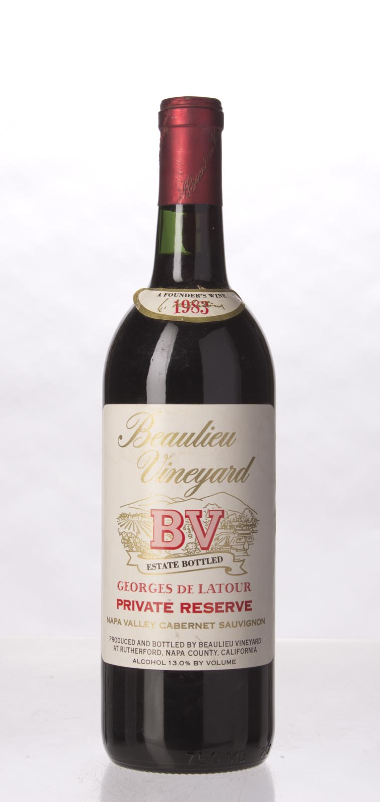 Beaulieu Vineyard Cabernet Sauvignon Private Reserve Georges de Latour 1983, 750mL () from The BPW - Merchants of rare and fine wines.