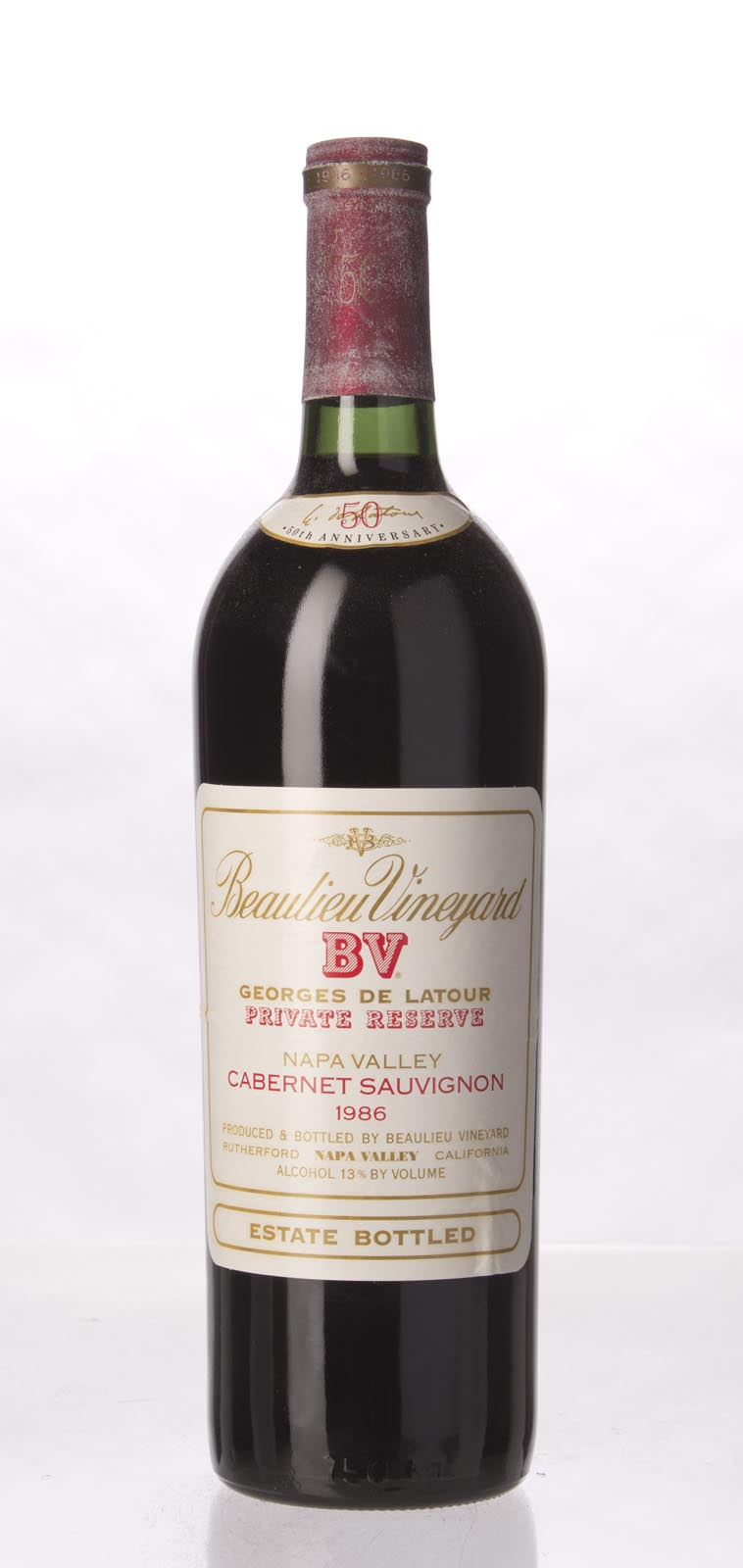 Beaulieu Vineyard Cabernet Sauvignon Private Reserve Georges de Latour 1986, 750mL (WS93) from The BPW - Merchants of rare and fine wines.
