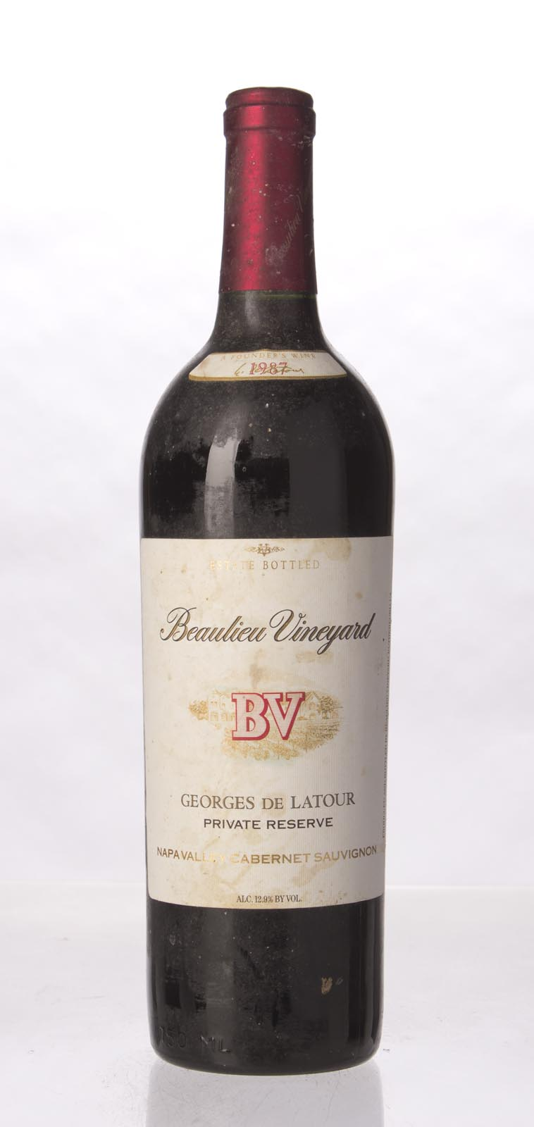 Beaulieu Vineyard Cabernet Sauvignon Private Reserve Georges de Latour 1987, 750mL (WS92) from The BPW - Merchants of rare and fine wines.