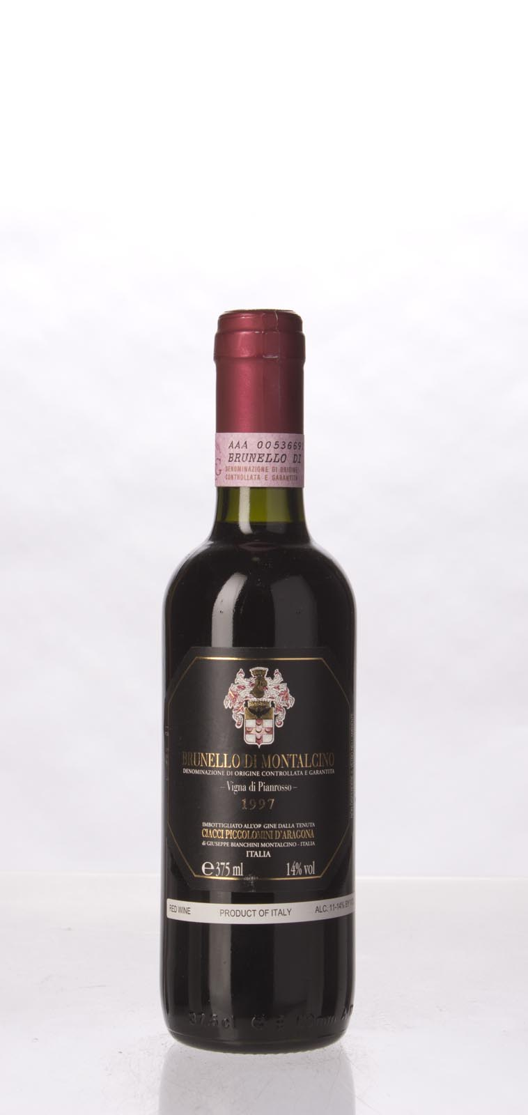 Ciacci Piccolomini d Aragona Brunello di Montalcino Vigna di Pianrosso 1997, 375mL (ST95, WS97) from The BPW - Merchants of rare and fine wines.