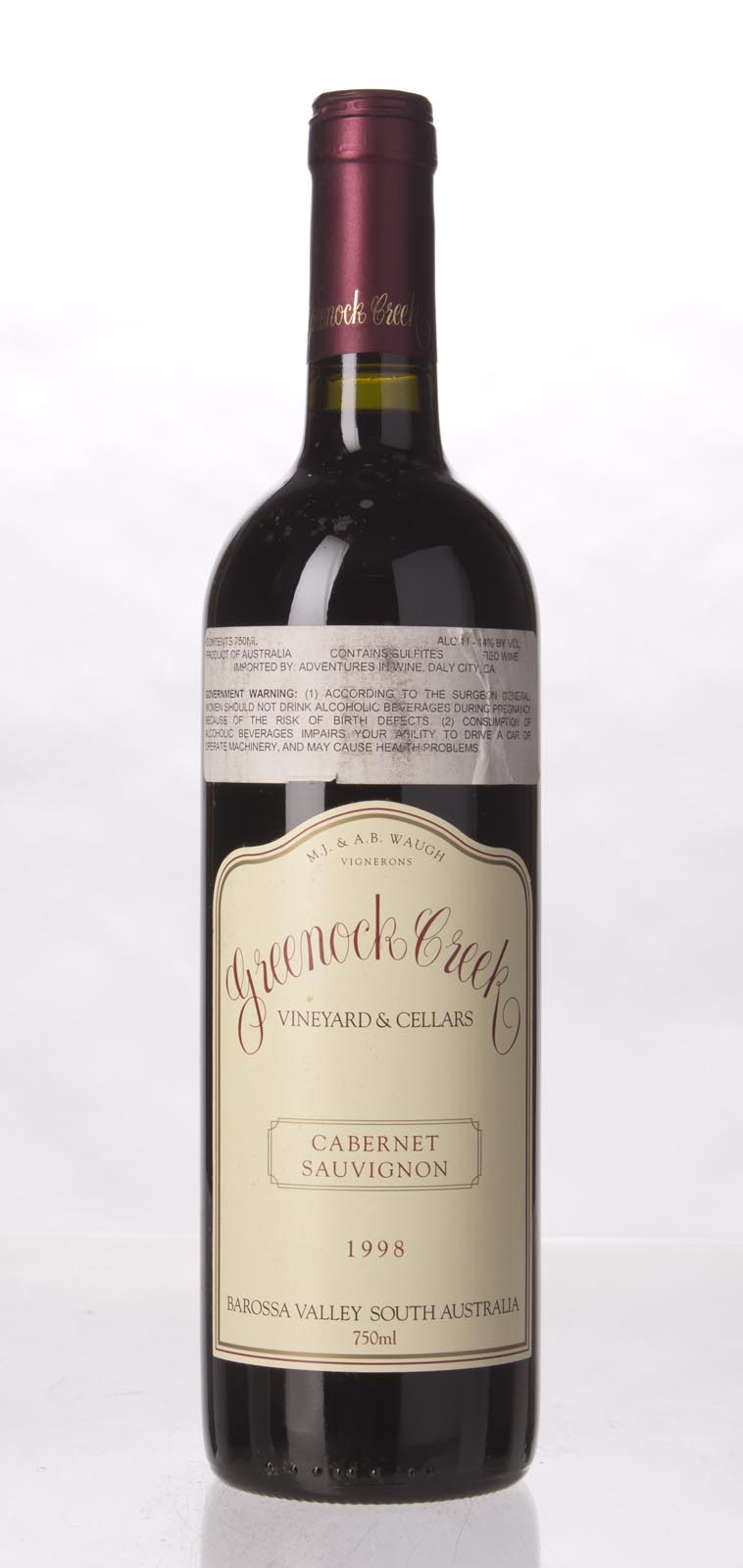 Greenock Creek Cabernet Sauvignon 1998, 750mL (WA90) from The BPW - Merchants of rare and fine wines.