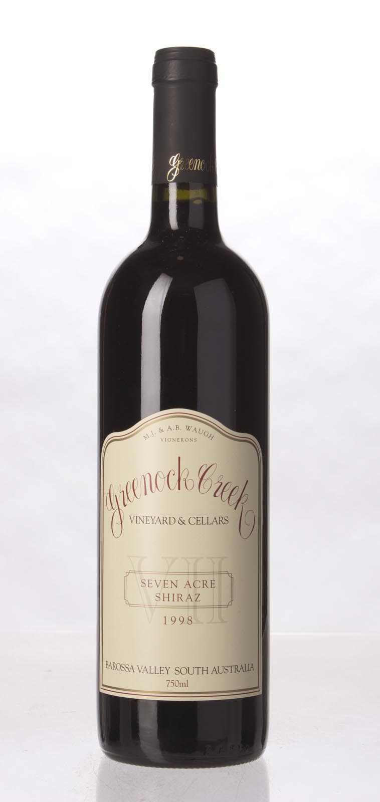 Greenock Creek Shiraz Seven Acres 1998, 750mL (WA96) from The BPW - Merchants of rare and fine wines.