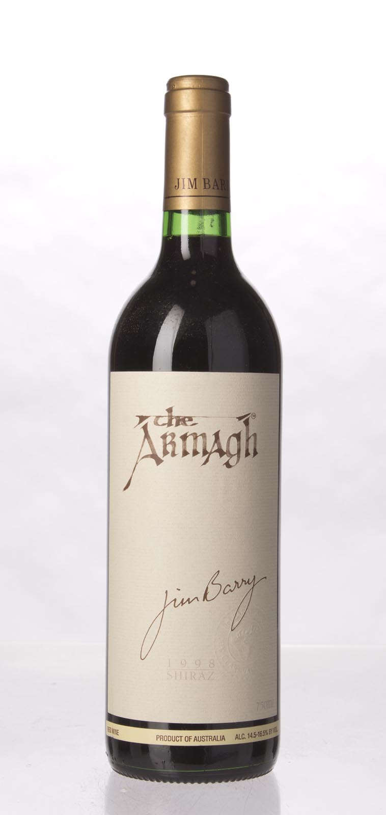 Jim Barry Shiraz The Armagh 1998, 750mL (ST95) from The BPW - Merchants of rare and fine wines.