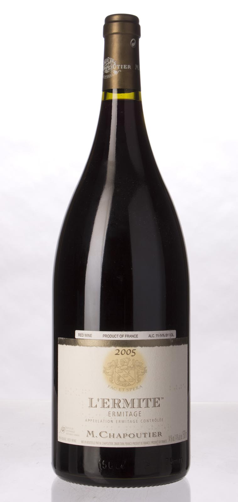 Chapoutier Ermitage l`Ermite 2005, 1.5L (WA99, WS98) from The BPW - Merchants of rare and fine wines.