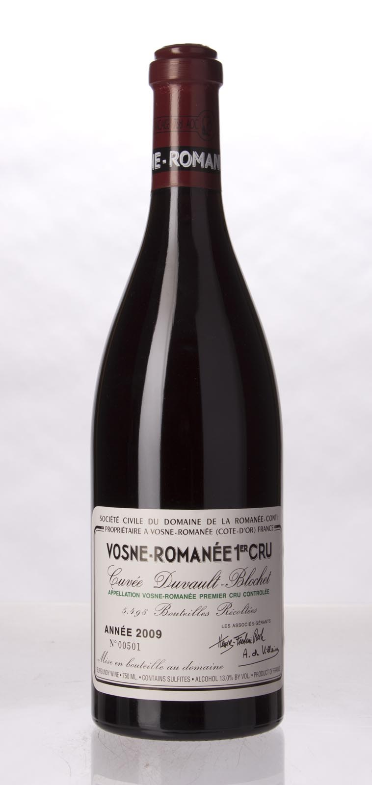 Domaine de La Romanee Conti Vosne Romanee 1er Cru 2009,  () from The BPW - Merchants of rare and fine wines.