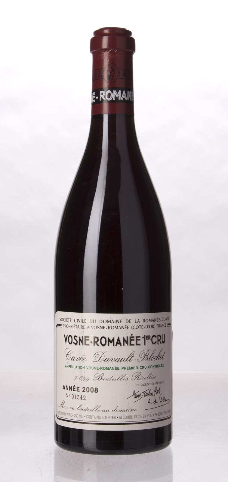 Domaine de La Romanee Conti Vosne Romanee 1er Cru 2008, 750mL () from The BPW - Merchants of rare and fine wines.