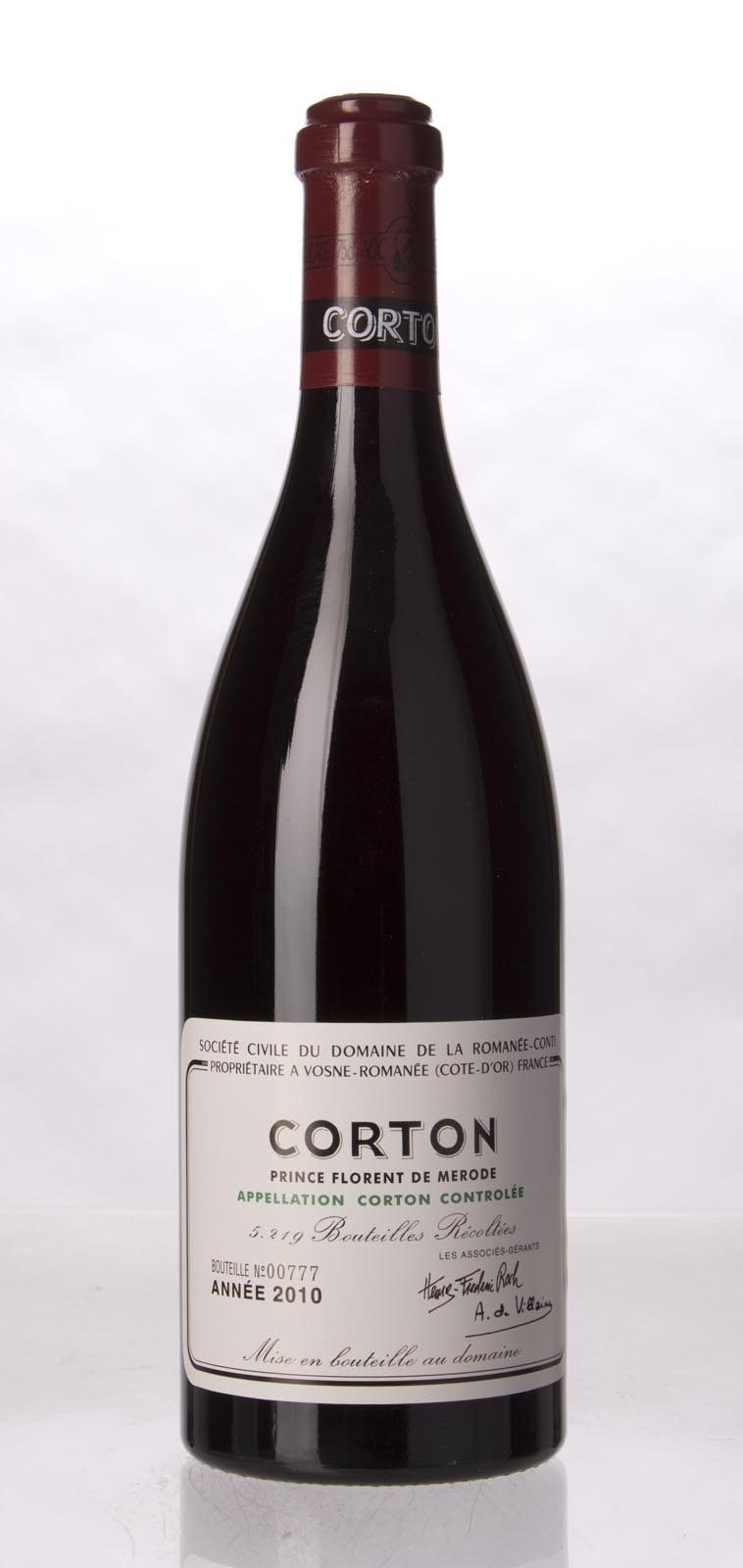 Domaine de la Romanee Conti Corton 2010, 750mL (BH93, ST92+) from The BPW - Merchants of rare and fine wines.