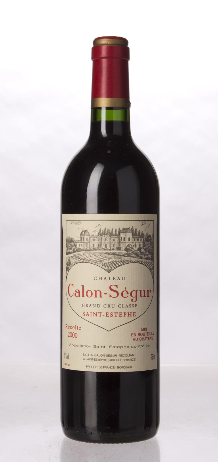 Calon Segur 2000, 750mL (WA91+, WS93) from The BPW - Merchants of rare and fine wines.