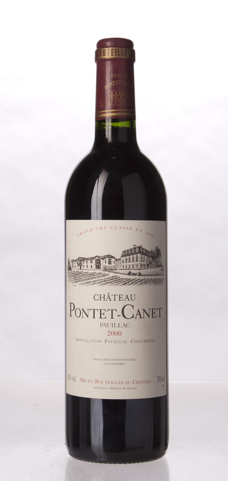 Pontet Canet 2000, 750mL (WA94+, ST93, WS93) from The BPW - Merchants of rare and fine wines.