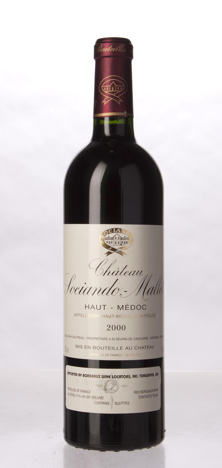 Sociando Mallet 2000, 750mL (WA92, ST93, WS91) from The BPW - Merchants of rare and fine wines.