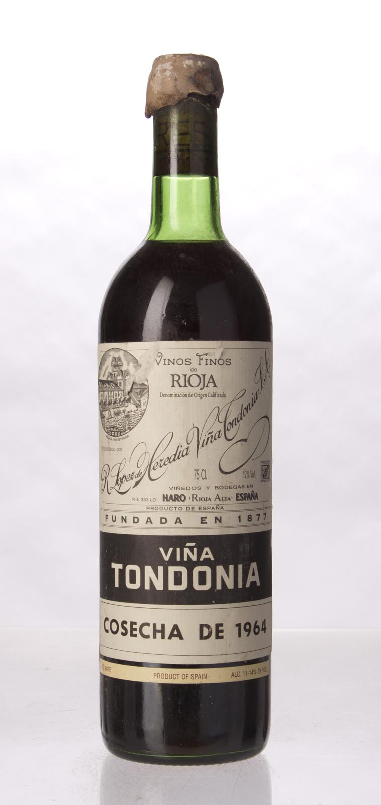 Lopez de Heredia Vina Tondonia Gran Reserva 1964, 750mL (WA94, WS95) from The BPW - Merchants of rare and fine wines.