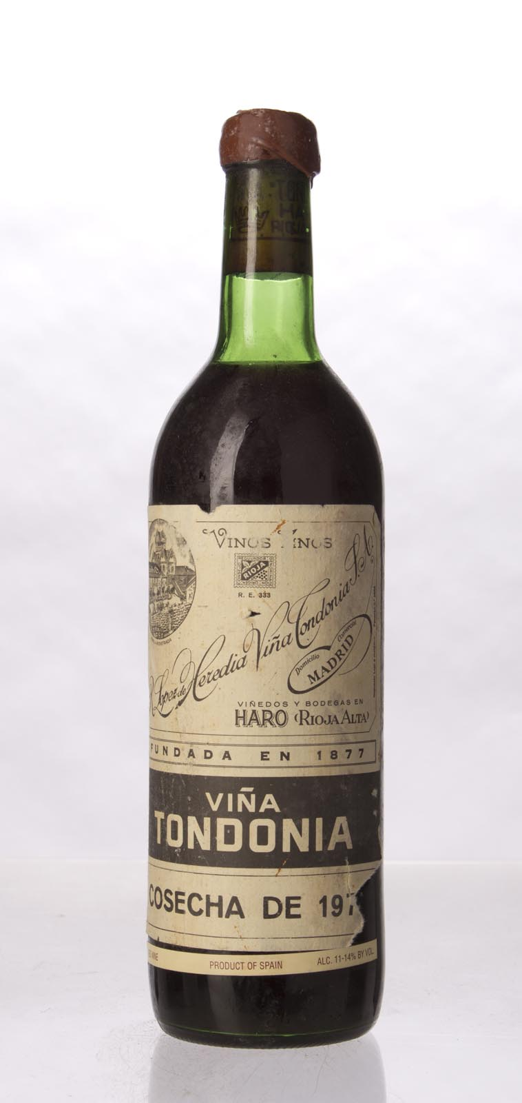 Lopez de Heredia Vina Tondonia Gran Reserva 1970, 750mL (WA97) from The BPW - Merchants of rare and fine wines.