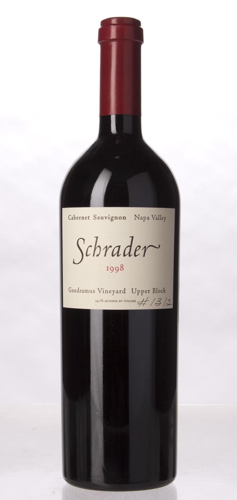 Schrader Cellars Cabernet Sauvignon Gaudeamus Vineyard Upper Block 1998, 750mL (WS91) from The BPW - Merchants of rare and fine wines.