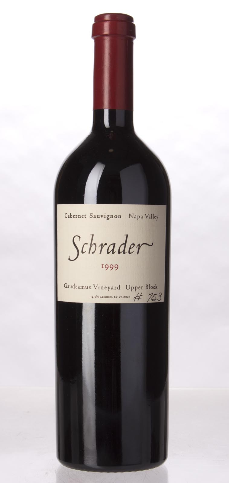 Schrader Cellars Cabernet Sauvignon Gaudeamus Vineyard Upper Block 1999, 750mL () from The BPW - Merchants of rare and fine wines.