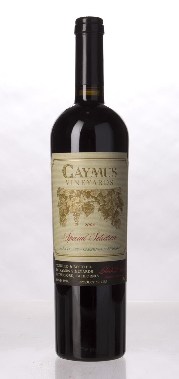 Caymus Cabernet Sauvignon Special Selection 2004, 750mL (WA95, WS94) from The BPW - Merchants of rare and fine wines.