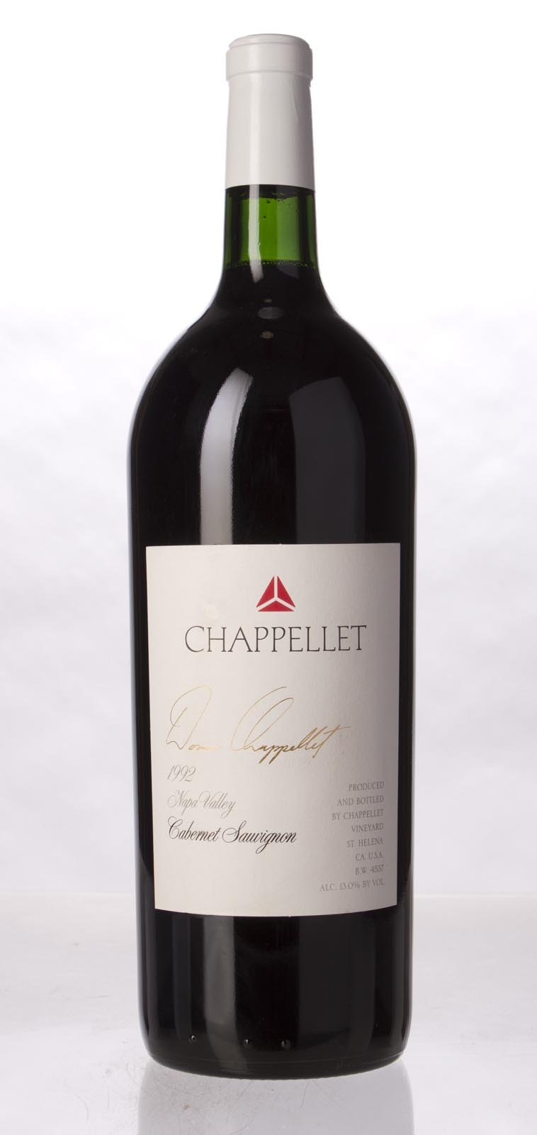 Chappellet Cabernet Sauvignon 1992, 1.5L () from The BPW - Merchants of rare and fine wines.