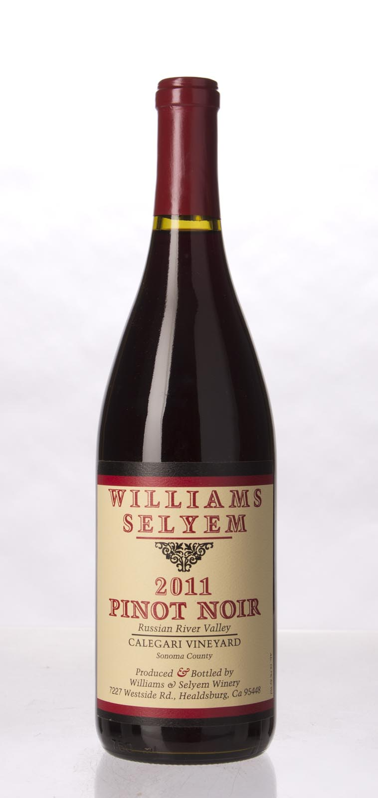 Williams Selyem Pinot Noir Calegari Vineyard 2011, 750mL (ST91) from The BPW - Merchants of rare and fine wines.