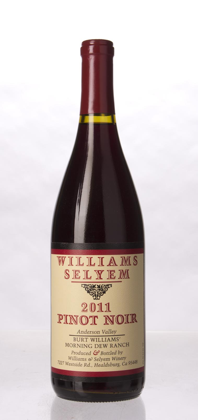 Williams Selyem Pinot Noir Burt William`s Morning Dew Ranch 2011, 750mL (ST94) from The BPW - Merchants of rare and fine wines.