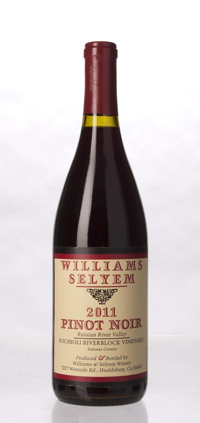 Williams Selyem Pinot Noir Rochioli Riverblock Vineyard 2011, 750mL (ST93) from The BPW - Merchants of rare and fine wines.