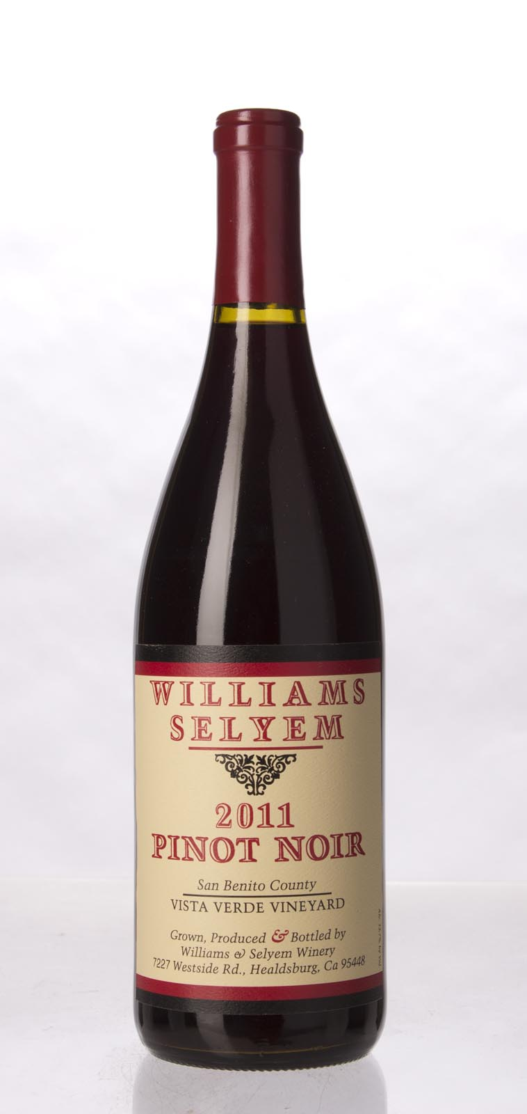 Williams Selyem Pinot Noir Vista Verde Vineyard 2011, 750mL (ST92) from The BPW - Merchants of rare and fine wines.