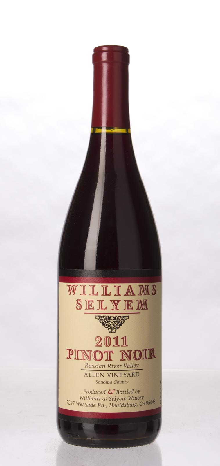 Williams Selyem Pinot Noir Allen Vineyard 2011, 750mL (ST93) from The BPW - Merchants of rare and fine wines.