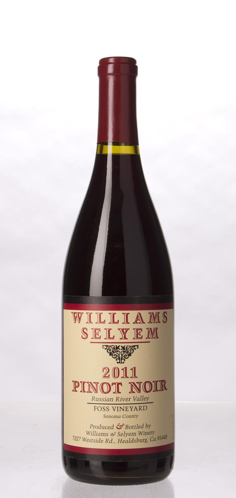 Williams Selyem Pinot Noir Foss Vineyard 2011, 750mL (ST92) from The BPW - Merchants of rare and fine wines.