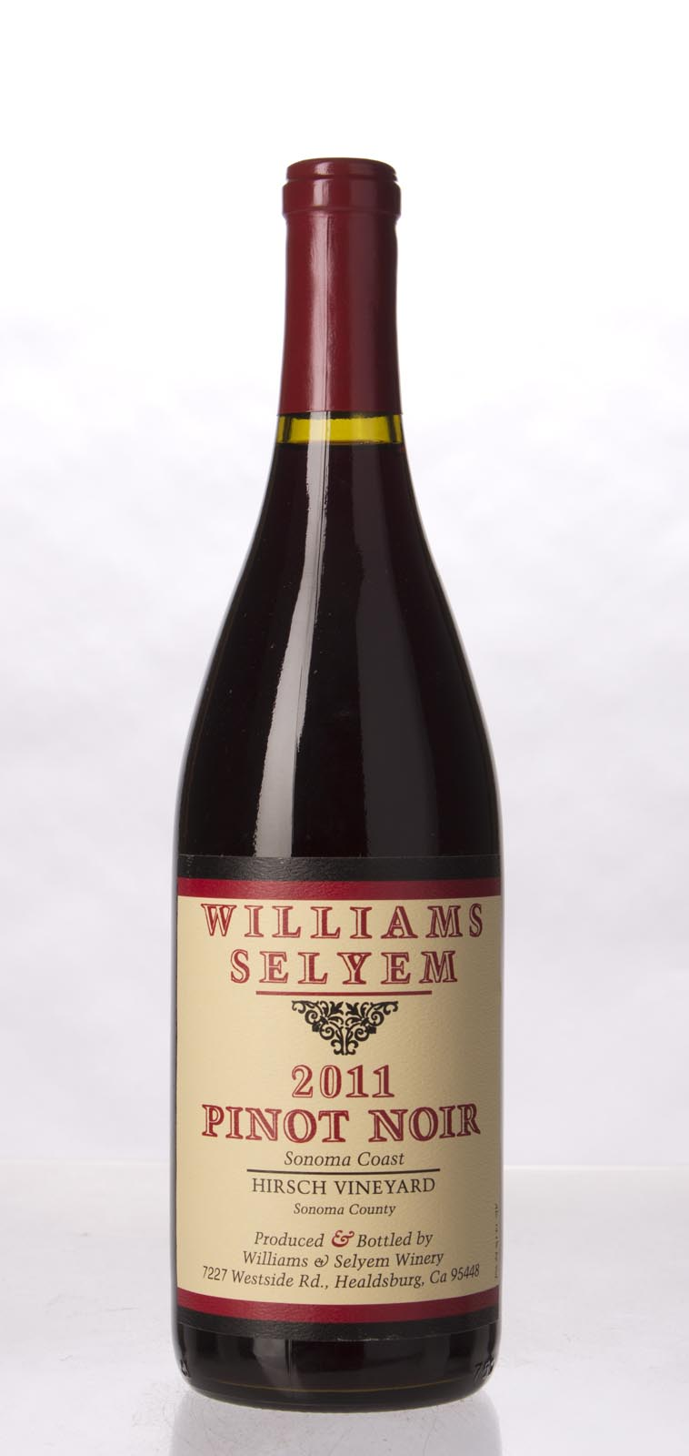 Williams Selyem Pinot Noir Hirsch Vineyard 2011, 750mL (ST92) from The BPW - Merchants of rare and fine wines.
