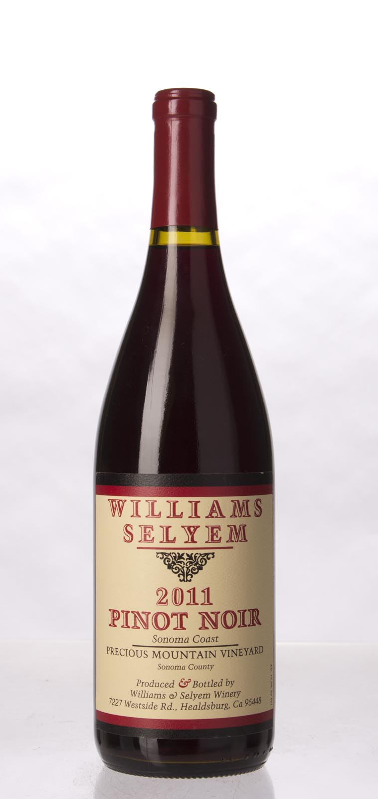Williams Selyem Pinot Noir Precious Mountain Vineyard 2011, 750mL (ST93) from The BPW - Merchants of rare and fine wines.