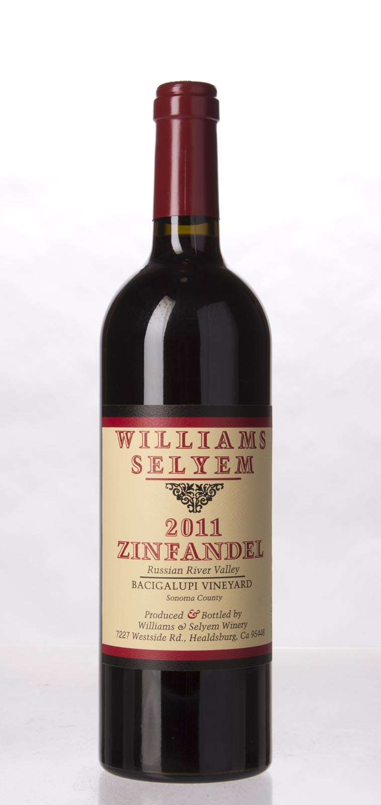 Williams Selyem Zinfandel Bacigalupi Vineyard 2011, 750mL (ST93) from The BPW - Merchants of rare and fine wines.