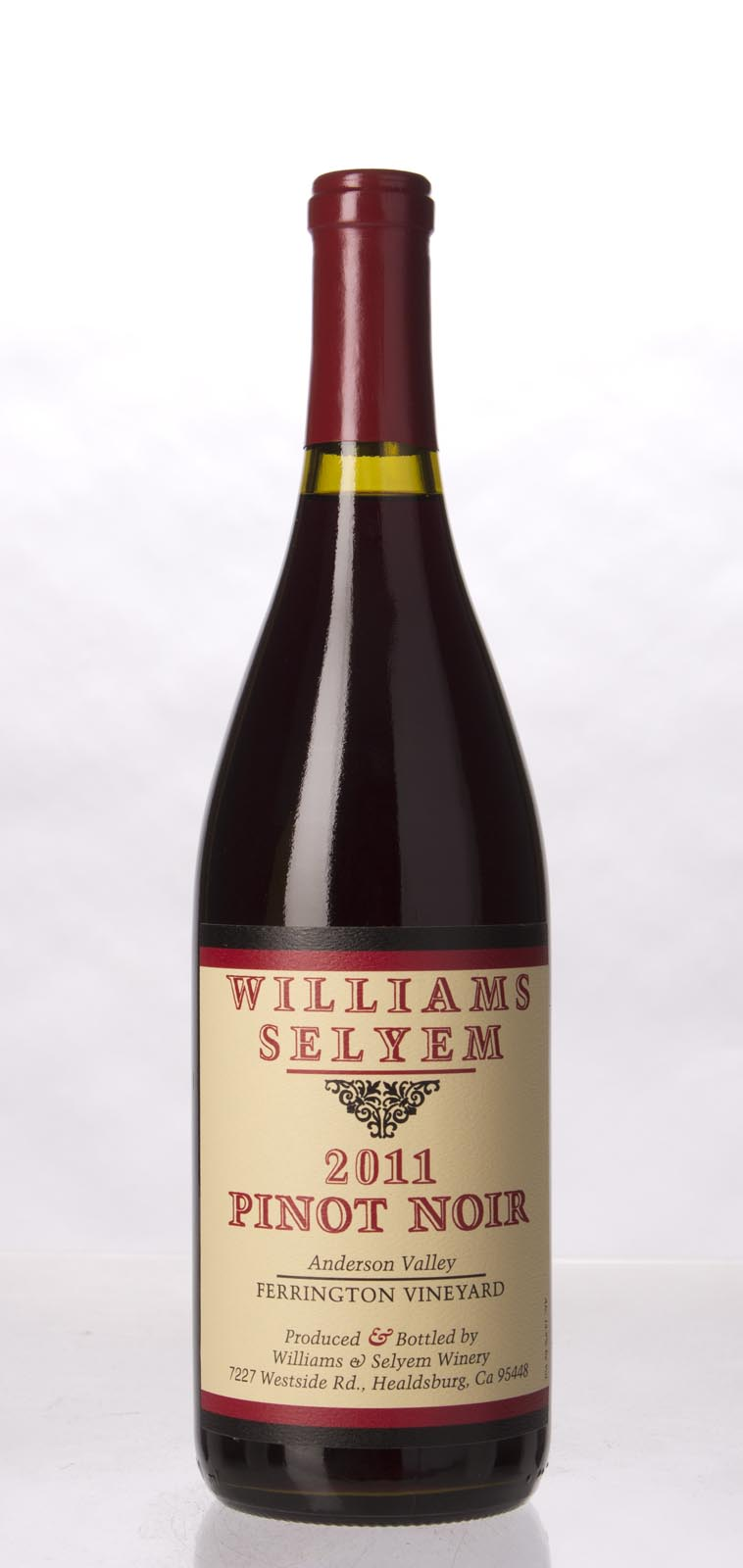 Williams Selyem Pinot Noir Ferrington Vineyard 2011, 750mL (ST93) from The BPW - Merchants of rare and fine wines.
