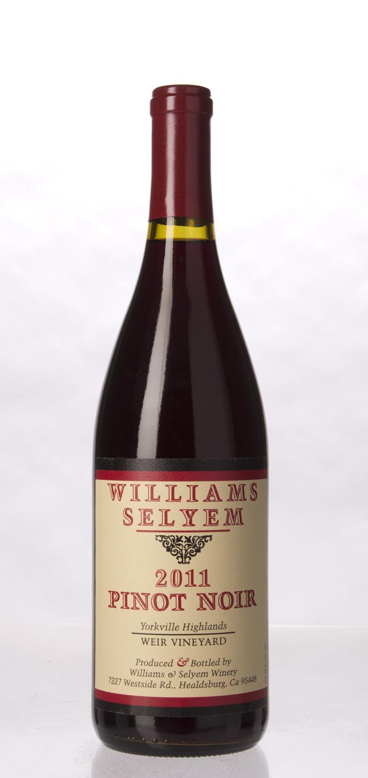 Williams Selyem Pinot Noir Weir Vineyard 2011, 750ml (ST92) from The BPW - Merchants of rare and fine wines.