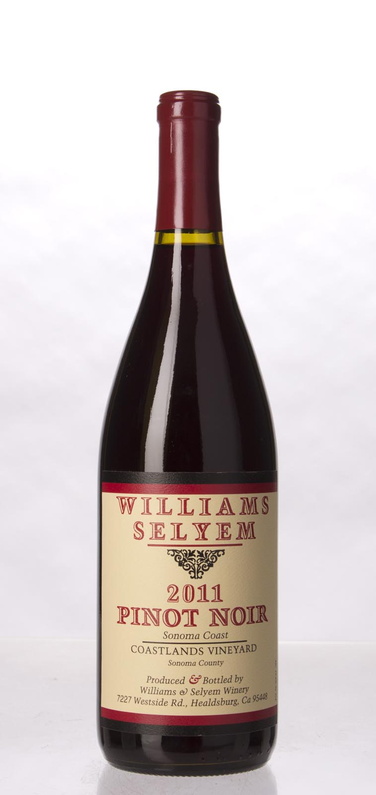 Williams Selyem Pinot Noir Coastlands Vineyard 2011, 750mL (ST92) from The BPW - Merchants of rare and fine wines.