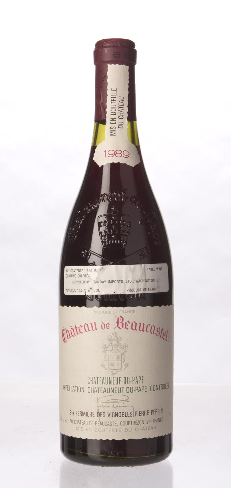 Chateau Beaucastel Chateauneuf du Pape 1989,  (WA97, WS97) from The BPW - Merchants of rare and fine wines.