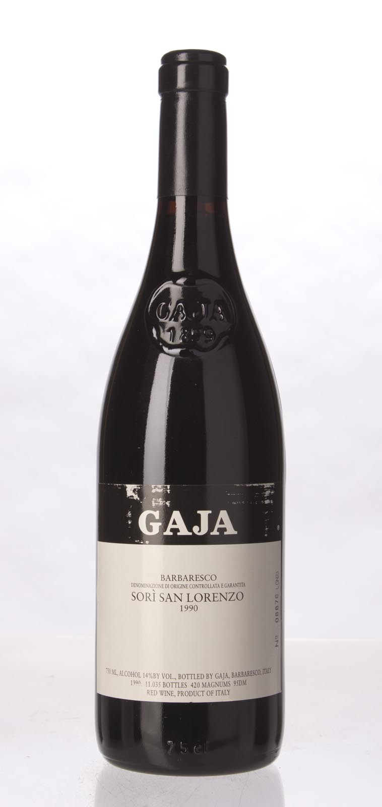 Gaja Sori San Lorenzo 1990, 750mL (WA94, WS96) from The BPW - Merchants of rare and fine wines.