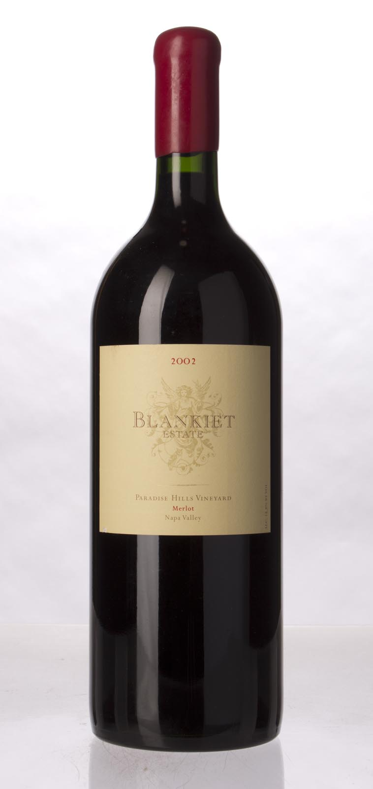 Blankiet Merlot Paradise Hills Vineyard 2002, 1.5L (WA94, ST92-94) from The BPW - Merchants of rare and fine wines.