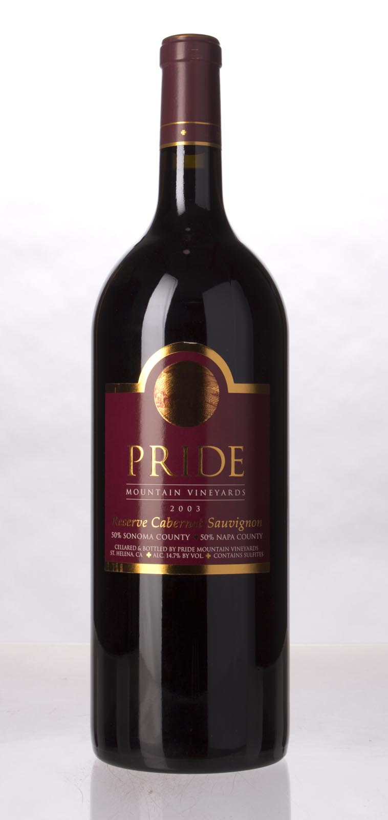 Pride Mountain Vineyards Cabernet Sauvignon Reserve 2003, 1.5L (WA99) from The BPW - Merchants of rare and fine wines.