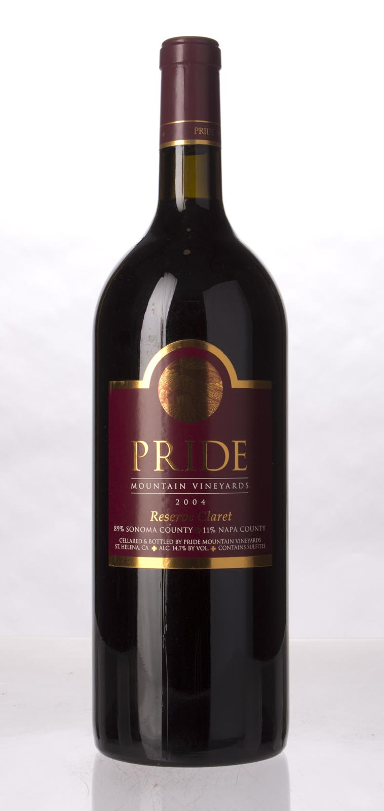 Pride Mountain Vineyards Claret Reserve 2004, 1.5L (ST92+) from The BPW - Merchants of rare and fine wines.