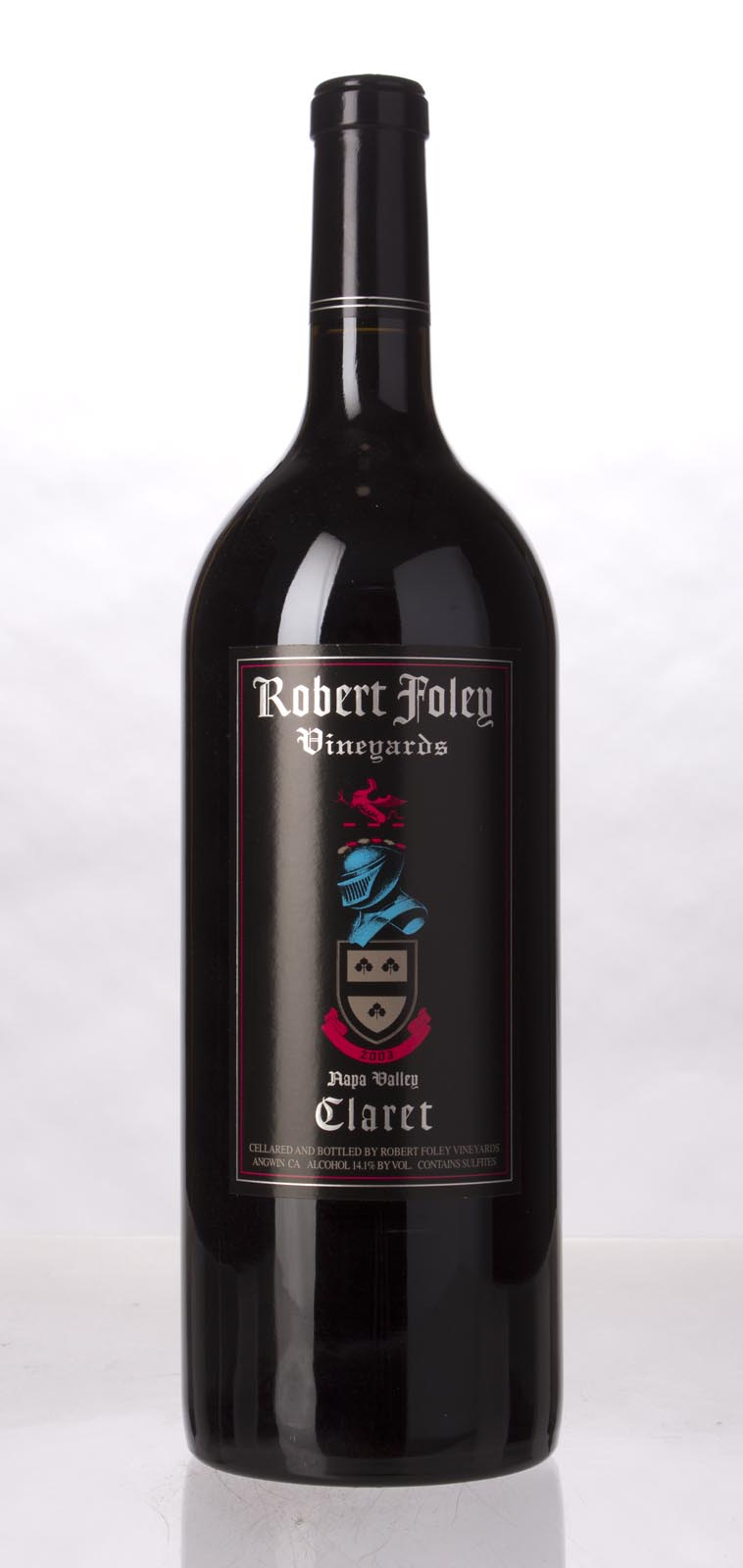 Robert Foley Vineyards Claret 2003, 1.5L (WA96, WS95) from The BPW - Merchants of rare and fine wines.