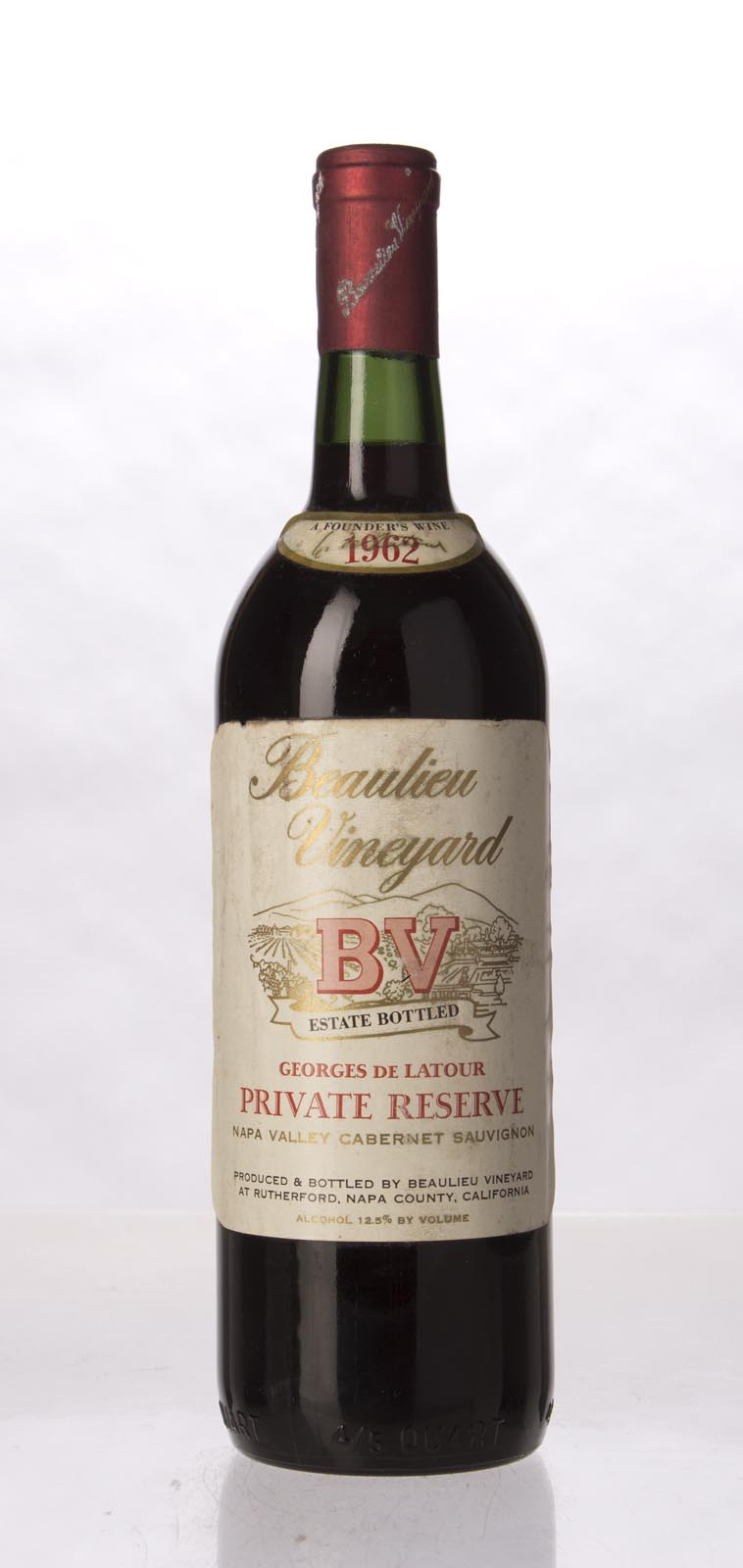 Beaulieu Vineyard Cabernet Sauvignon Private Reserve Georges de Latour 1962, 750mL () from The BPW - Merchants of rare and fine wines.
