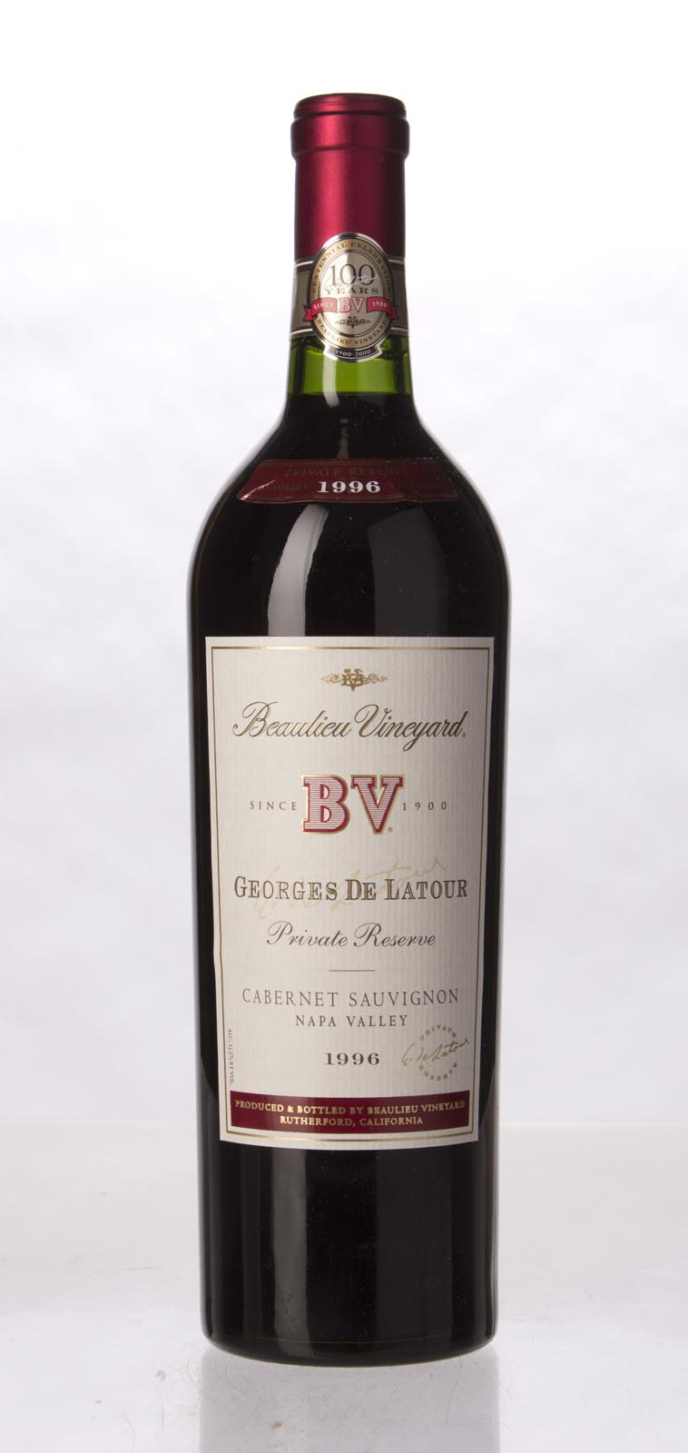 Beaulieu Vineyard Cabernet Sauvignon Private Reserve Georges de Latour 1996, 750mL (WS92) from The BPW - Merchants of rare and fine wines.