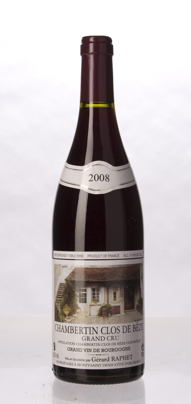 Domaine Raphet Chambertin Clos de Beze 2008, 750mL (BH90-92) from The BPW - Merchants of rare and fine wines.