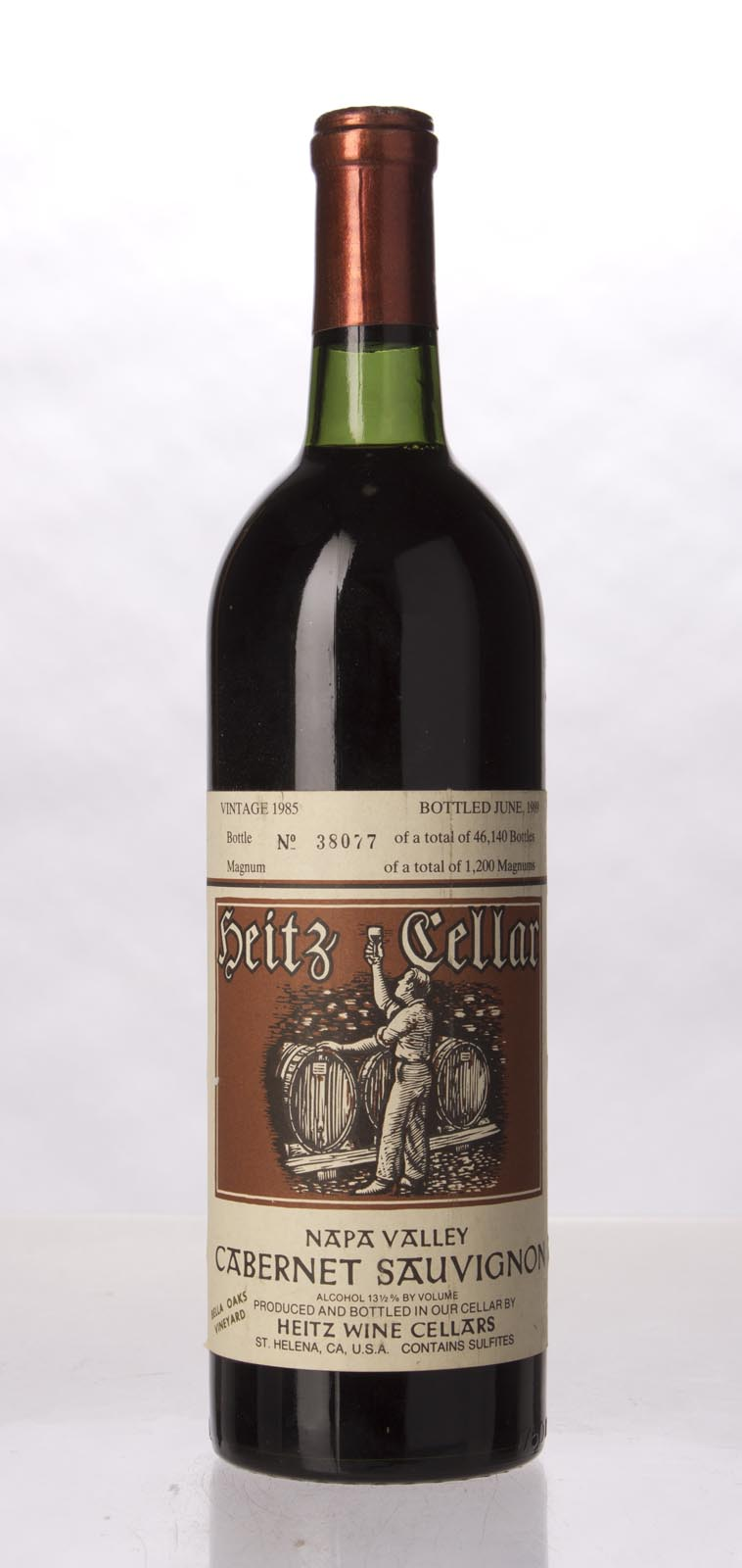 Heitz Cabernet Sauvignon Bella Oaks Vineyard 1985, 750mL (WS92) from The BPW - Merchants of rare and fine wines.